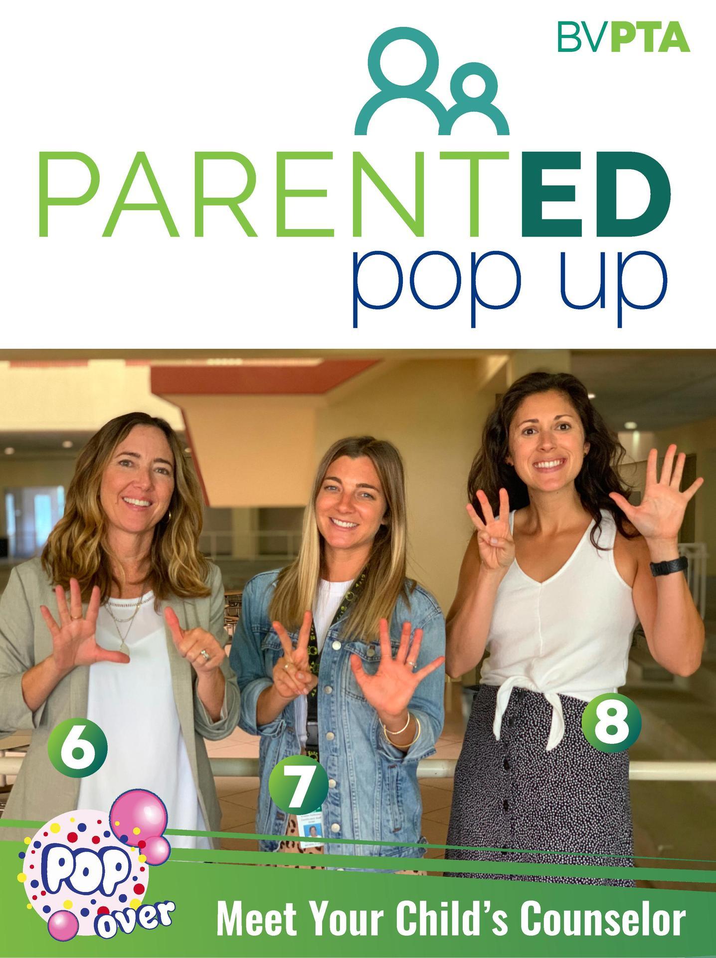Parent Ed Pop Up - Counselors