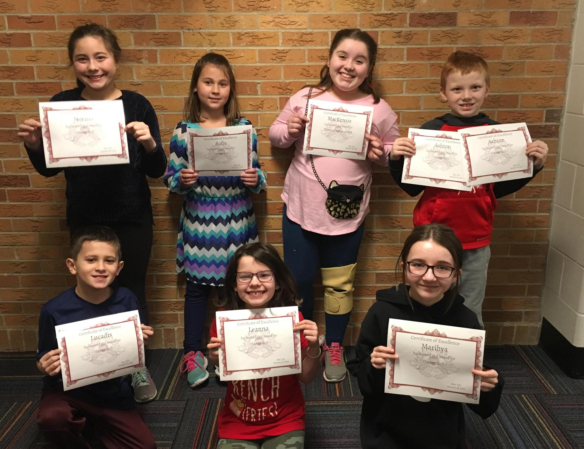 7 students with awards