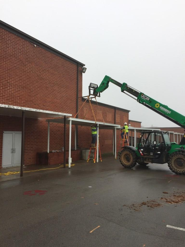 removing the awning