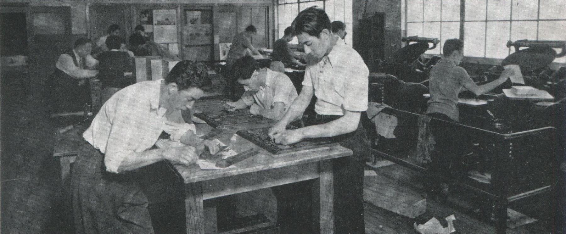 Garfield Print Shop 1940s