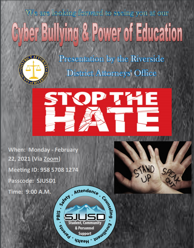 Cyber Bullying and Power of Education Flyer