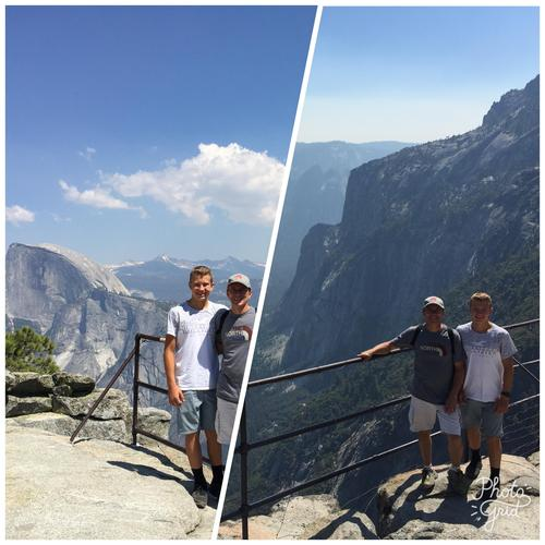 Pic of Gavin and myself at the top of Yosemite Falls Trail