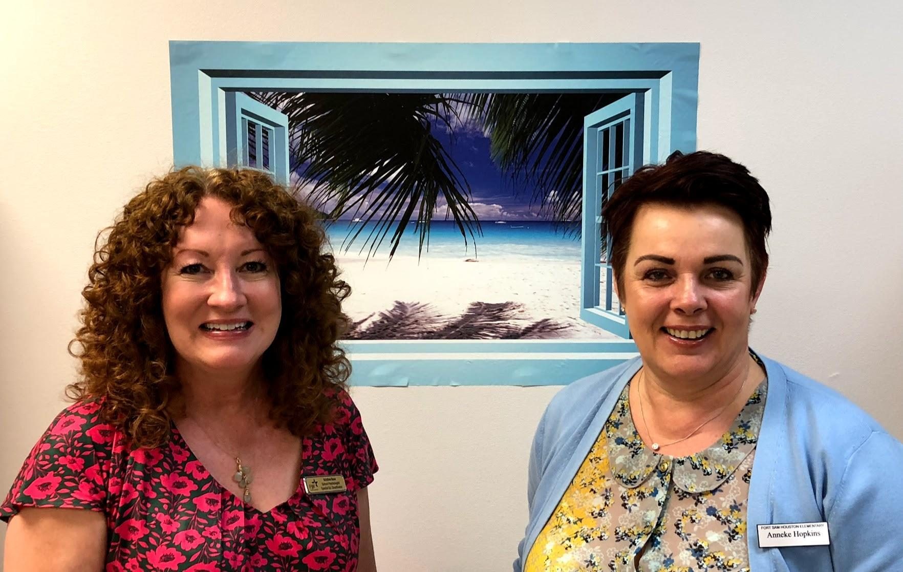 Kristine Rose and Anneke Hopkins, Fort Sam Elementary Special Education Staff