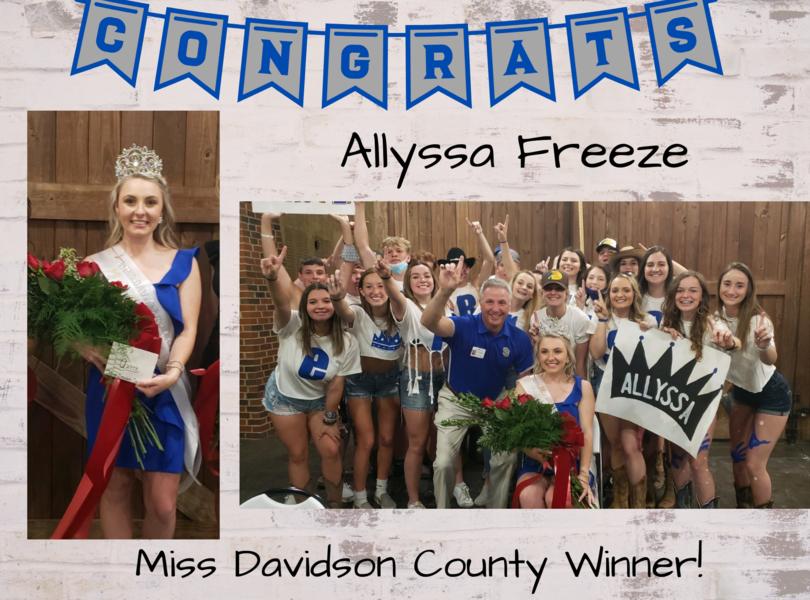 Allyssa Freeze - Miss Davidson County Winner!