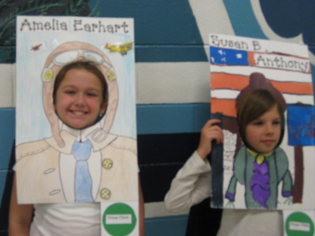 Wax Museum-Amelia Earhart and Susan B. Anthony