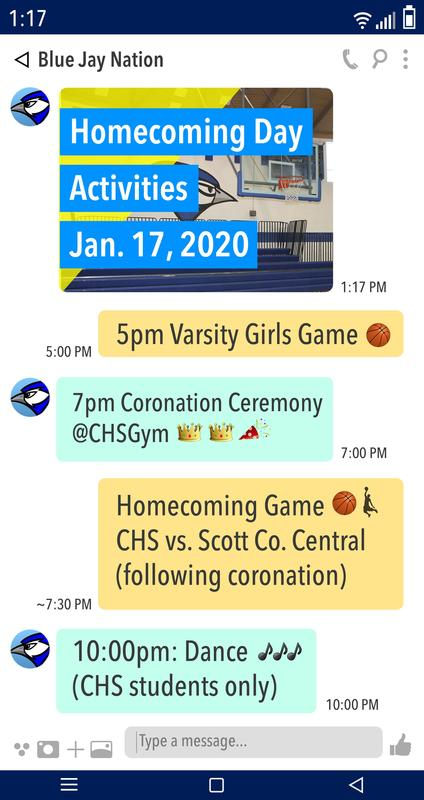 Homecoming Day Activities, January 17, 2020. See article for details.