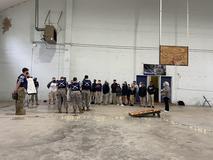 8th grade JROTC visit