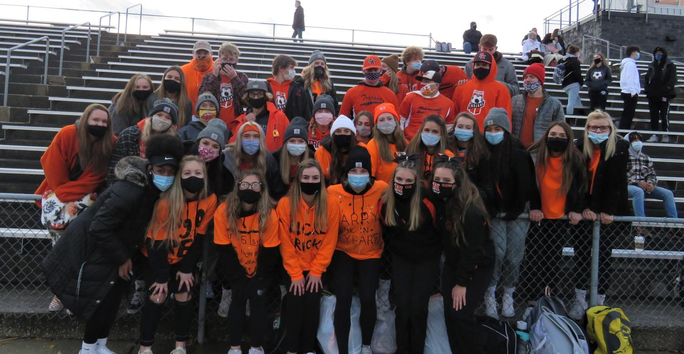 A few students were allowed to attend some of the football games this year.