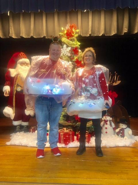 Merry Christmas from Coach Knight and Mrs. Winters, Jackson Snowglobes!