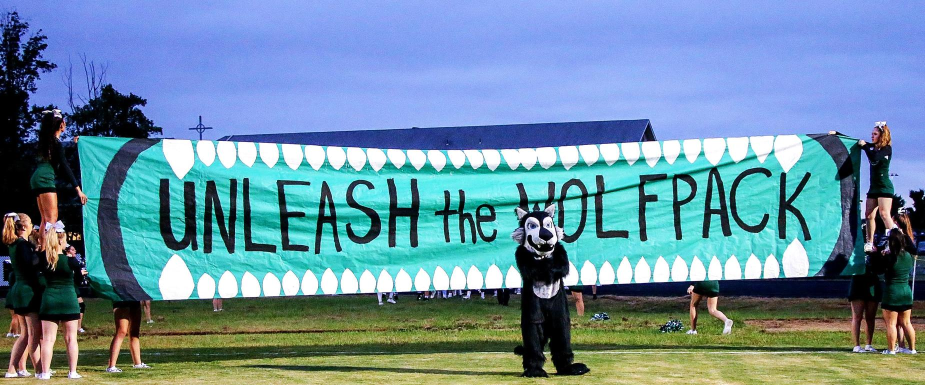 A Wolf Pack banner