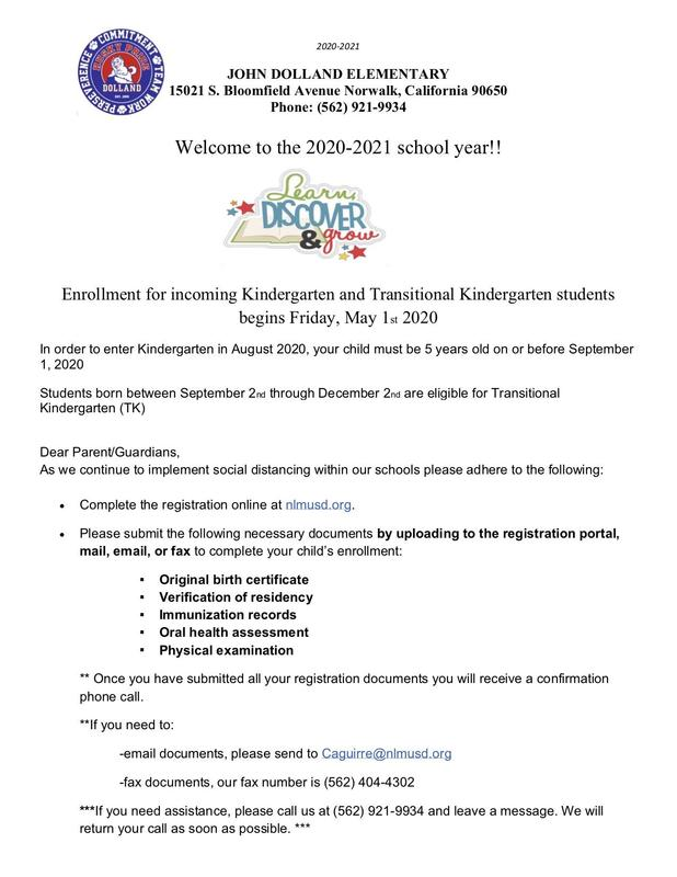 TK and Kindergarten Registration Begins May 1st Featured Photo