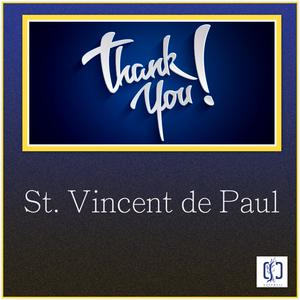 Blue background with thank you inscribed in yellow