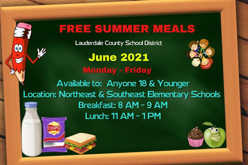 LCSD Free Summer Meals Available Graphic