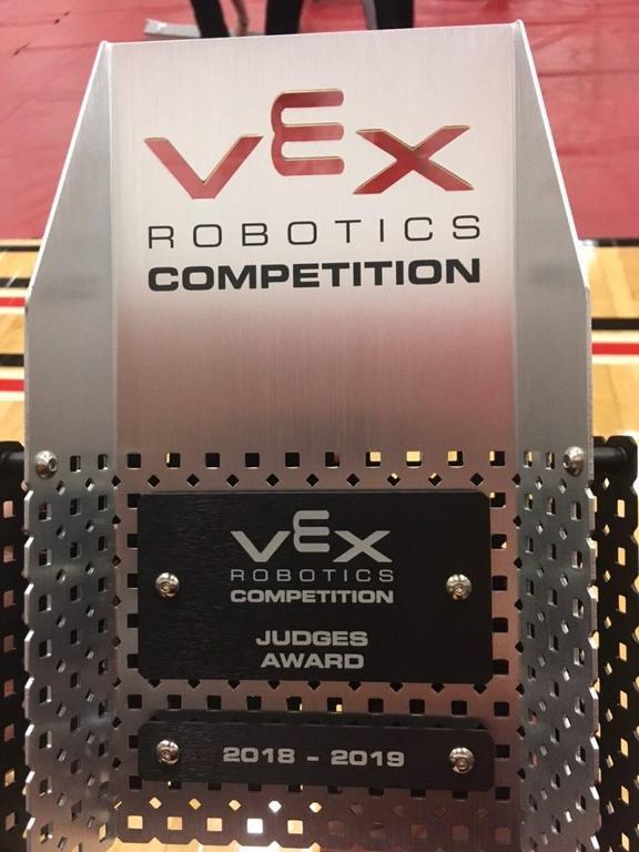 VEX Robotics Competition plaque