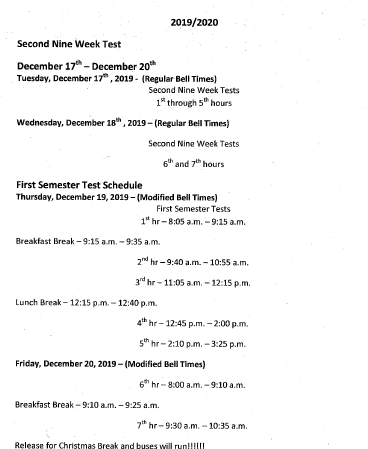 9 Weeks and Modified Bell Schedule for Testing Featured Photo