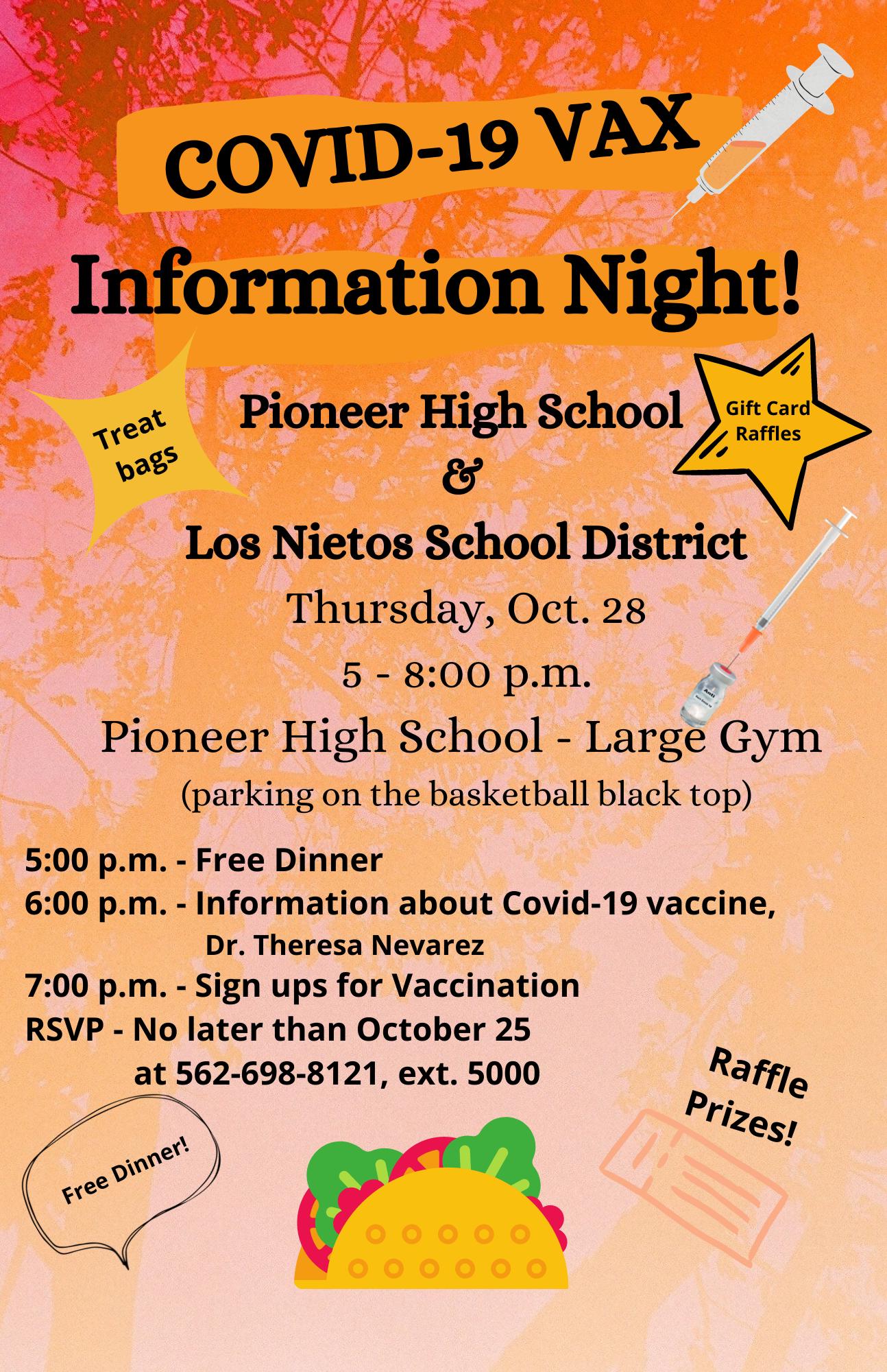 PHS Vax Night Flyer