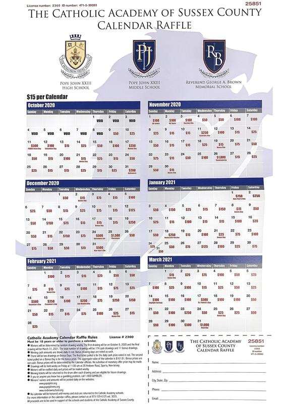 Academy Calendar Raffle winner March 31, 2021 Thumbnail Image