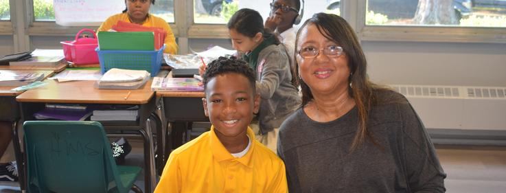 "Higgins Middle School hosts ""Growing Grammatically & Geometrically"" for Grandparents Day!"