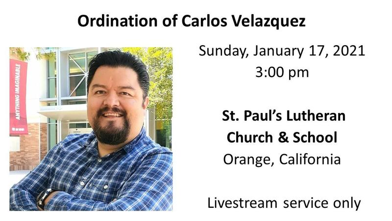 Carlos Velazquez Ordination:  January 17th at 3:00 pm Featured Photo