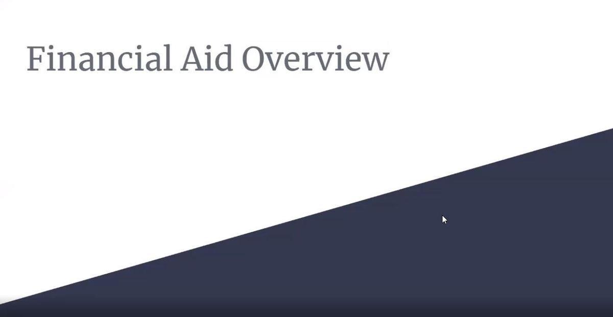 Financial Aid video