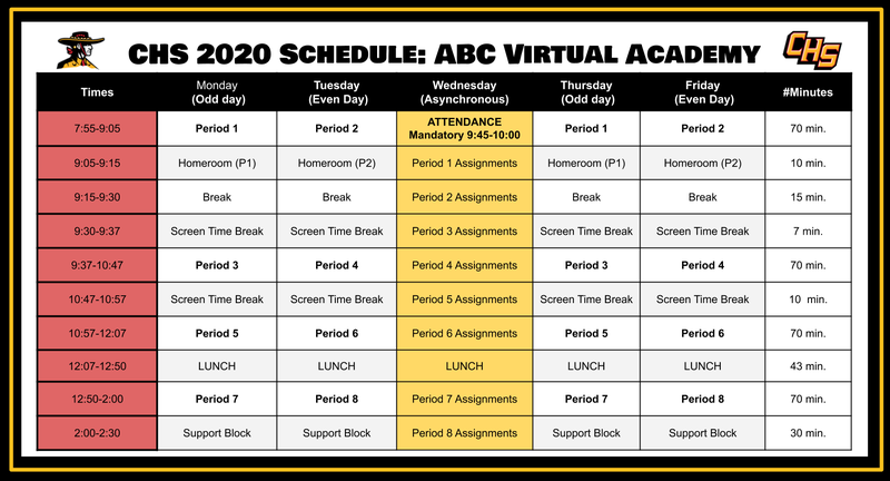 Schedule for 2020-2021