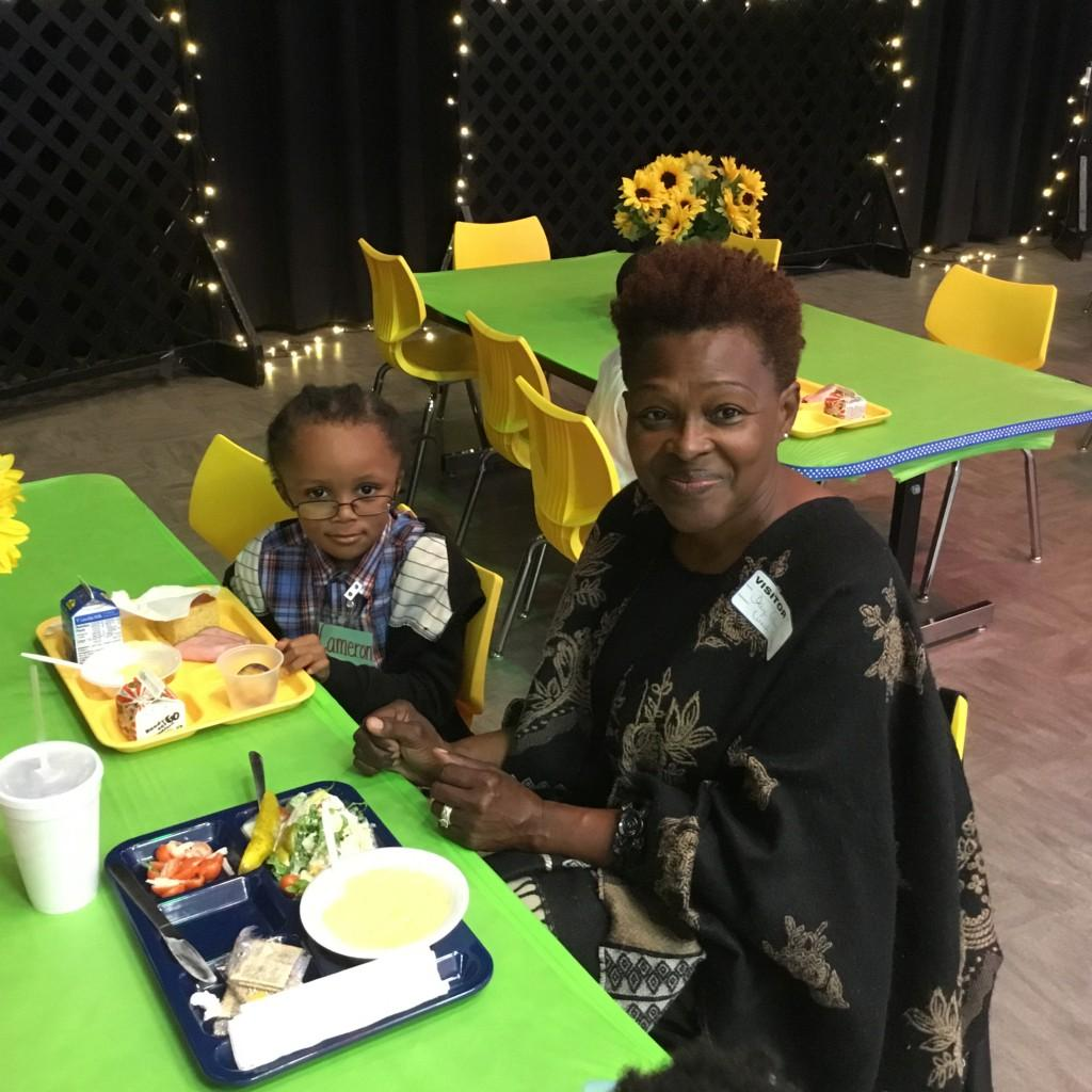 CCPS student and guest in the Cougar Cafe