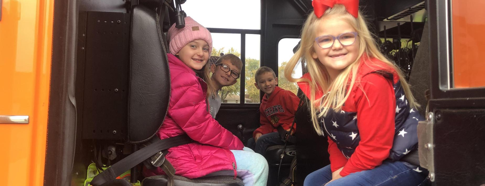 On the firetruck at the CCES