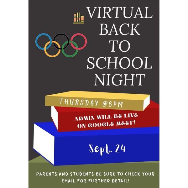 Welcome to our Virtual Back 2 School