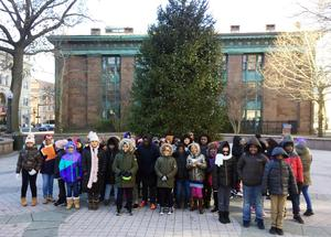 NBFA students sing on McLevy Green