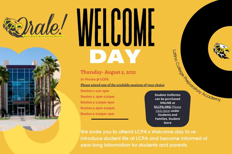 WELCOME DAY! Featured Photo