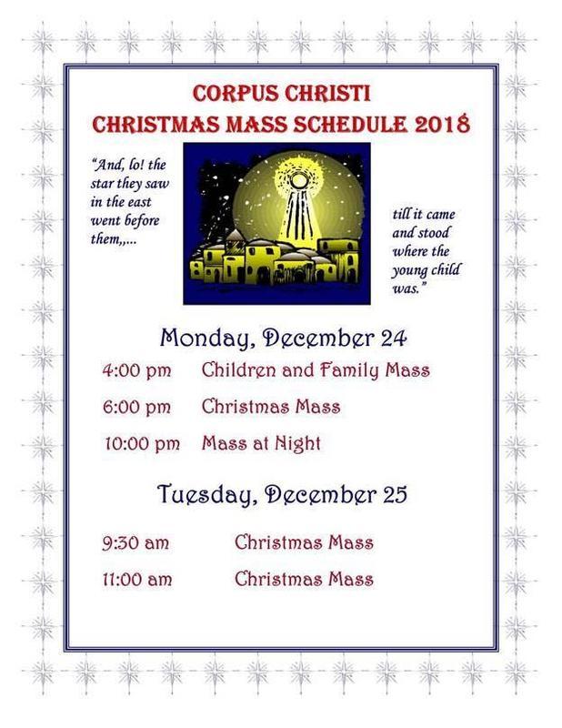 Christmas Mass Schedule at Corpus Christi Featured Photo