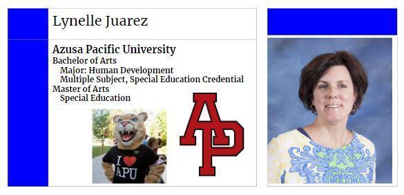Mrs. Juarez's College Info