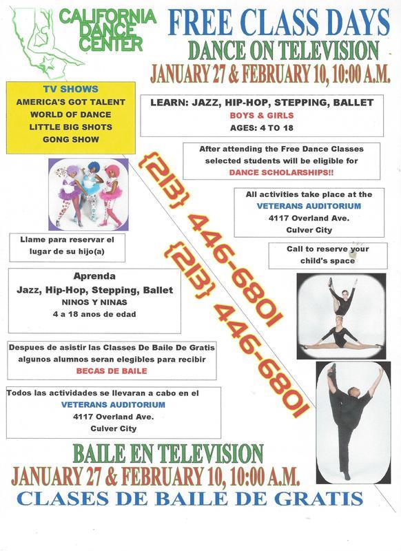 California Dance Center - Free Class Days Feb. 2018 Bilingual.jpg