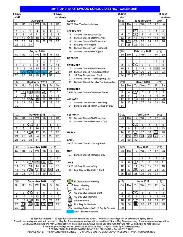 With the Start of School Just Around the Corner, Please Review the 2018-2019 District Calendar for Important Dates! Featured Photo