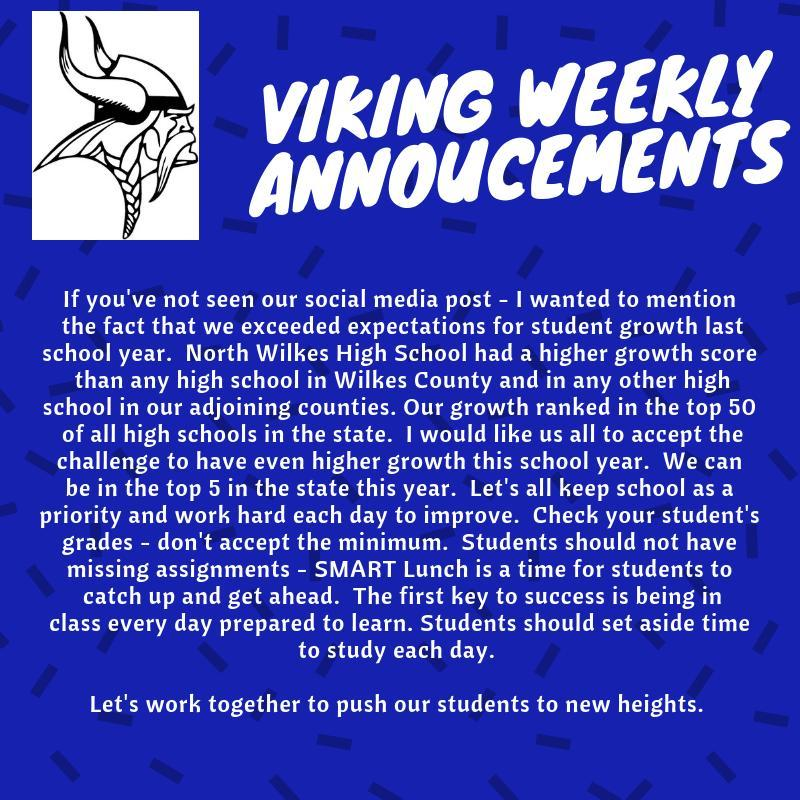 Weekly Announcements 9/16 - 9/20 Thumbnail Image
