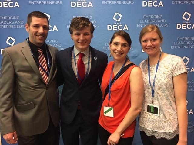 deca advisors with senior student