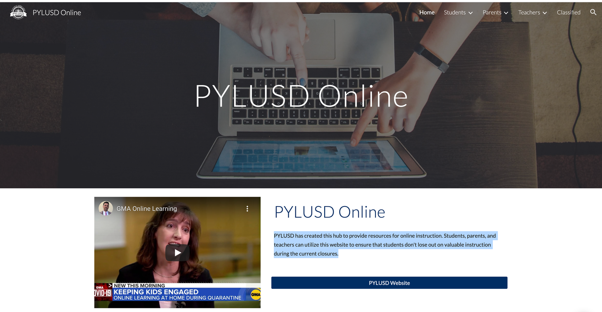 PYLUSD Online.