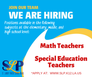 need math and special ed teachers