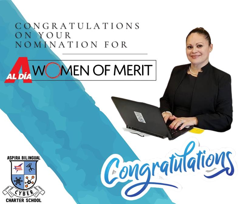 ASPIRA BILINGUAL CYBER CHARTER SCHOOL PRINCIPAL NOMINATED FOR AL DIA WOMEN OF MERIT Featured Photo