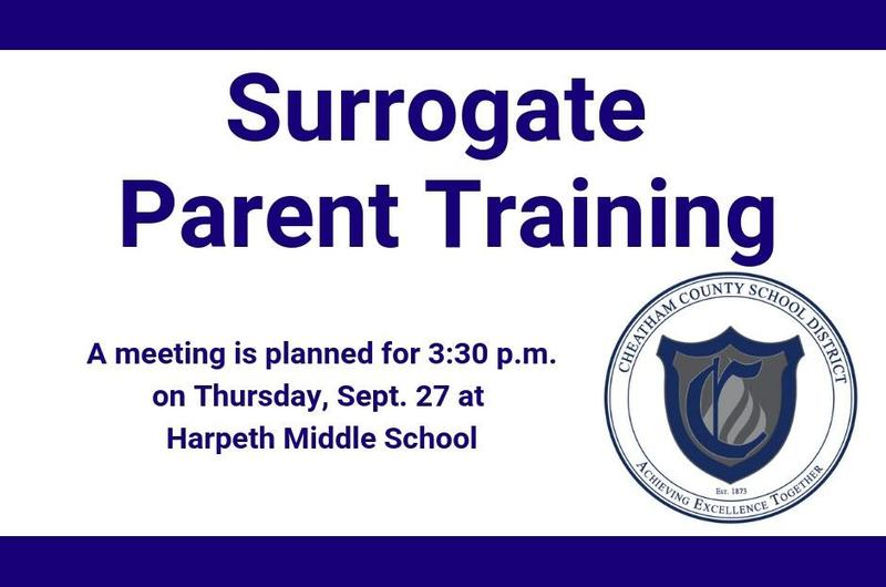 The Cheatham County Board of Education is offering Surrogate Parent training for adults interested in becoming a surrogate parent for a special-needs student.