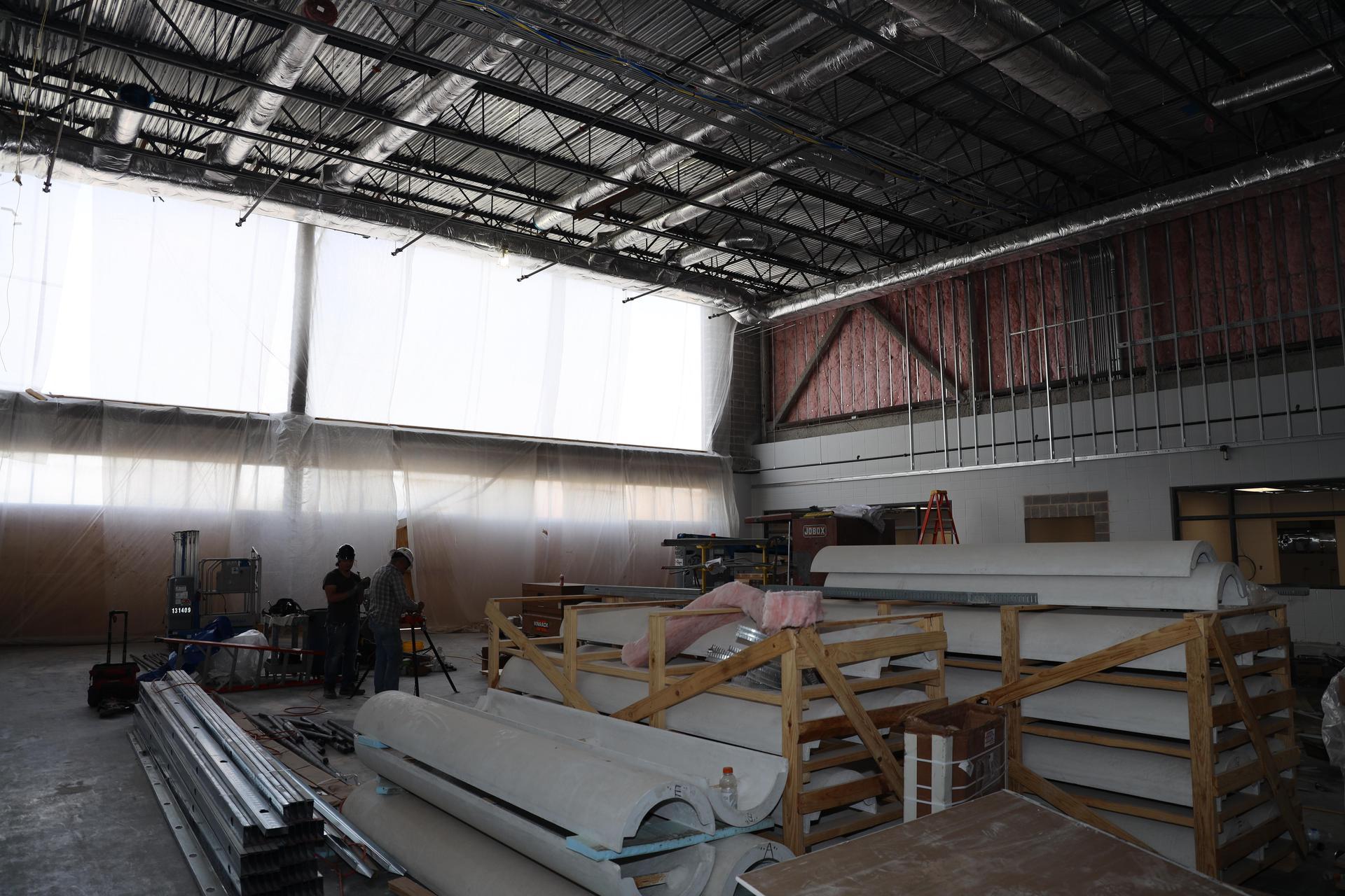 Carpenter Elementary construction photos