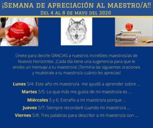 Semana DE Apreciación al Maestro/a