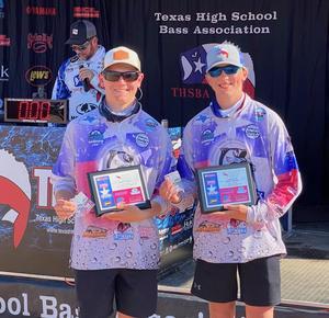 Braxton Alexander and Cade Dornburg Bass Fishing honorees