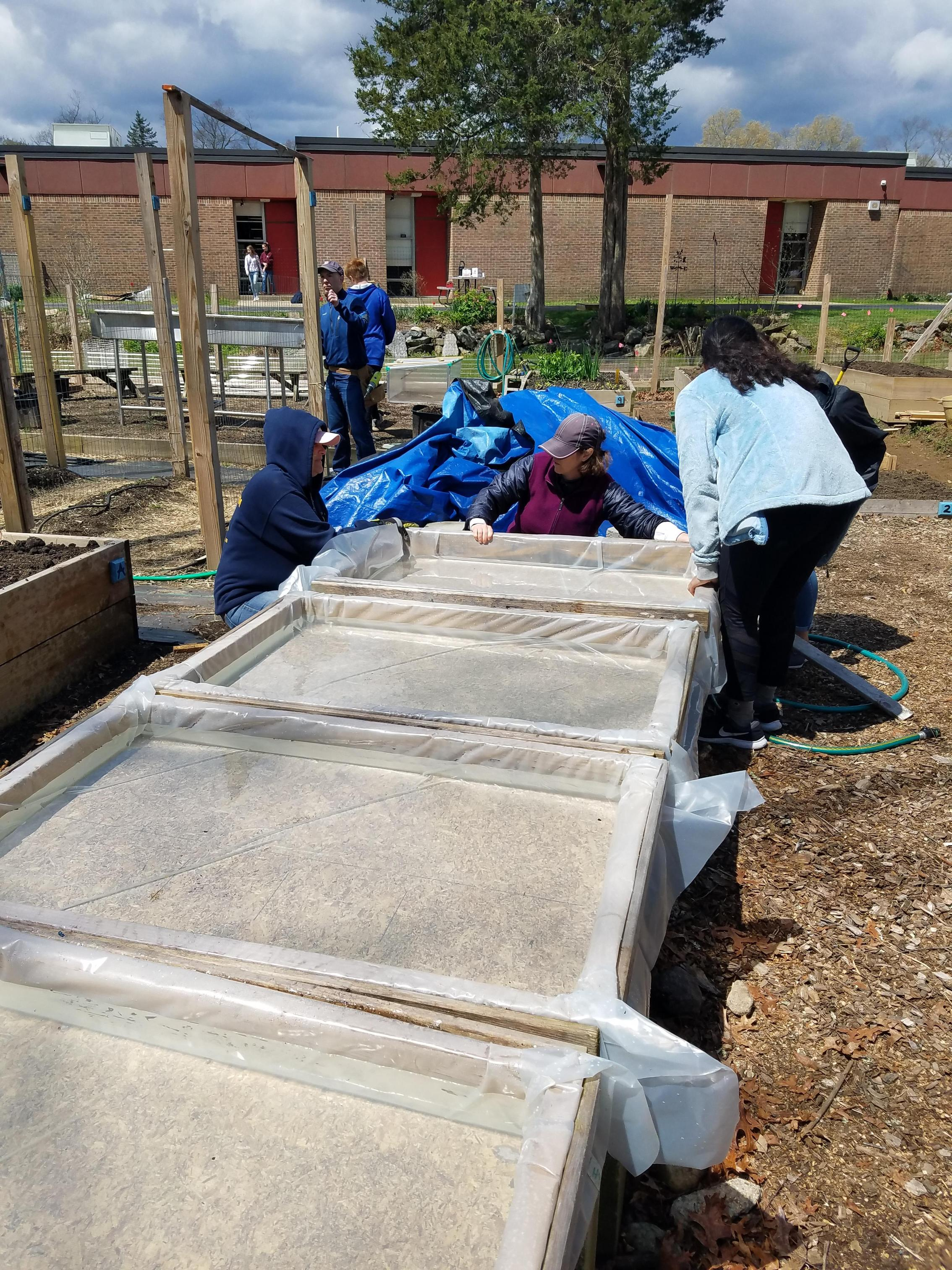 Updating the hydroponic beds