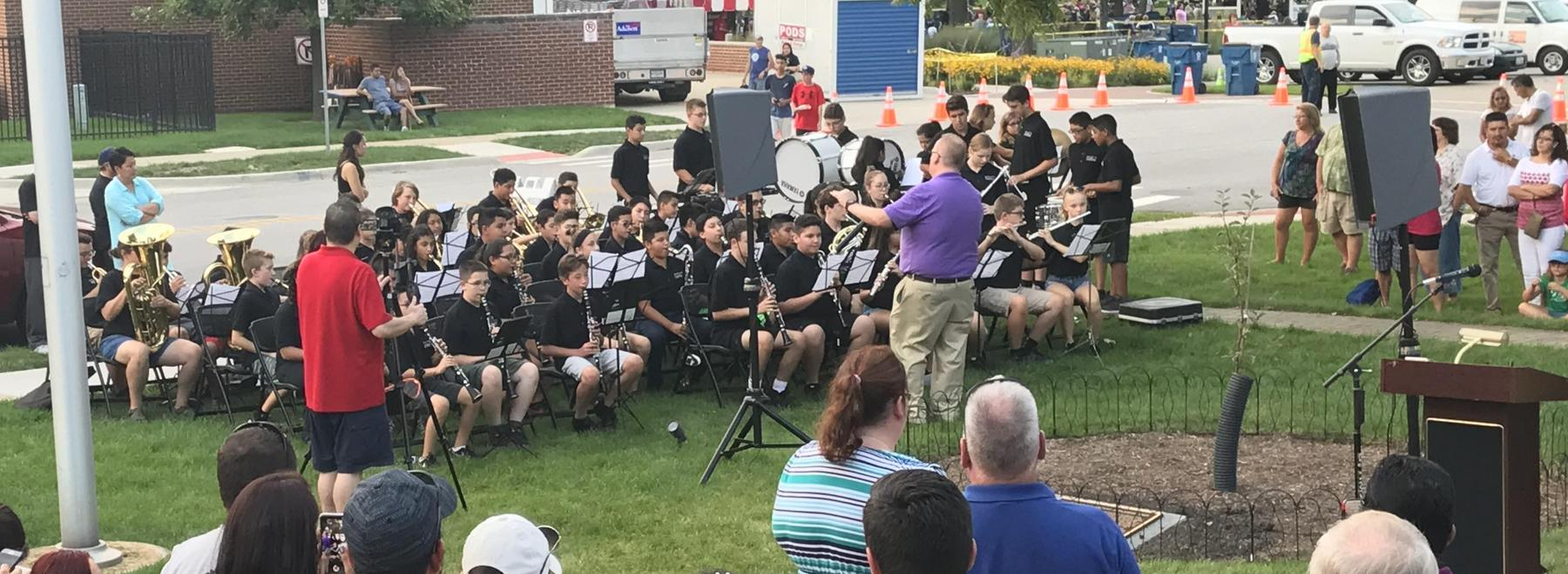 ITJHS Band at Tree Dedication