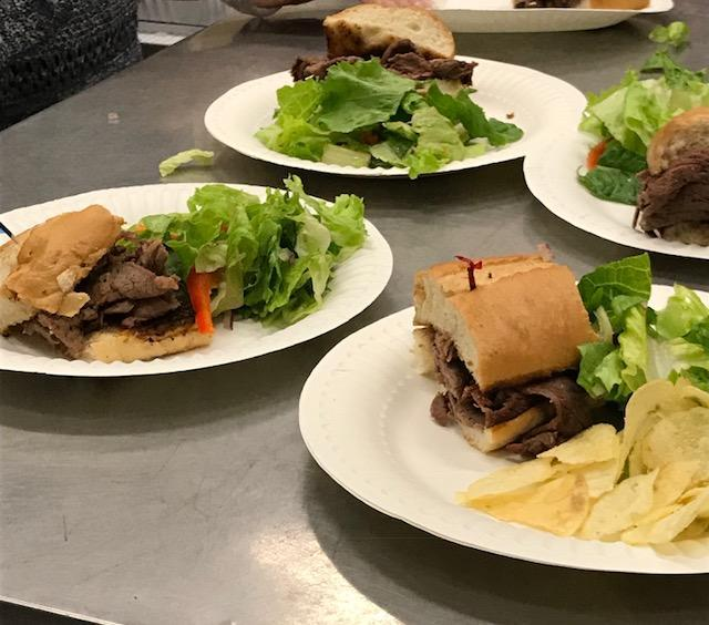 Photo of food from IB night 2018