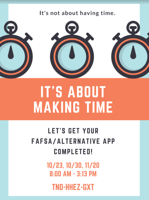 FAFSA/Alternative Application Drop-In Sessions, October 30 Featured Photo