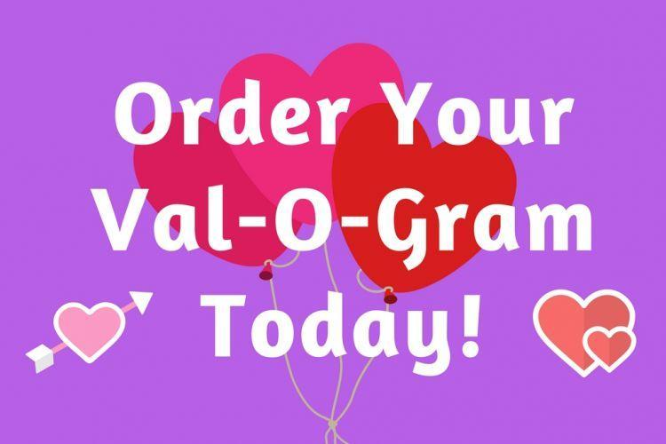 Val-o-grams are being sold by student council and are 50 cents each.  We will be selling them in the gym lobby from Thursday, Feb. 4th until Thursday February 11th from 7:00-7:40am.  The val-o-grams will be delivered on Thursday afternoon Feb. 11th with a Charms blow pop.   Every one that buys a val-o-gram will get a red ticket.  You will be entered into a drawing for a $5 Walmart gift card. There are two of them.