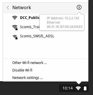 Chromebook MAC Address