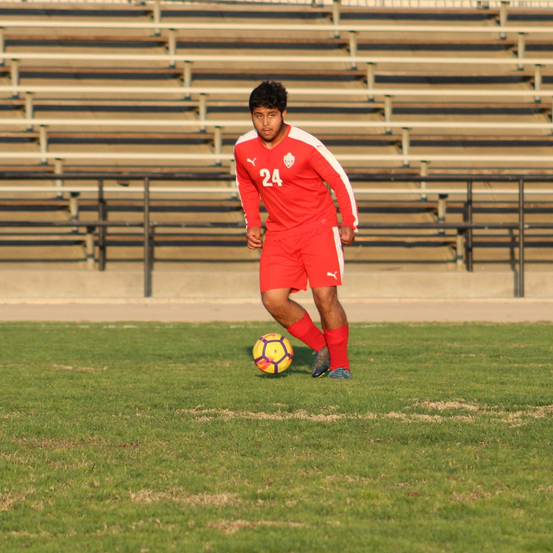 David Flores Chavez with the ball